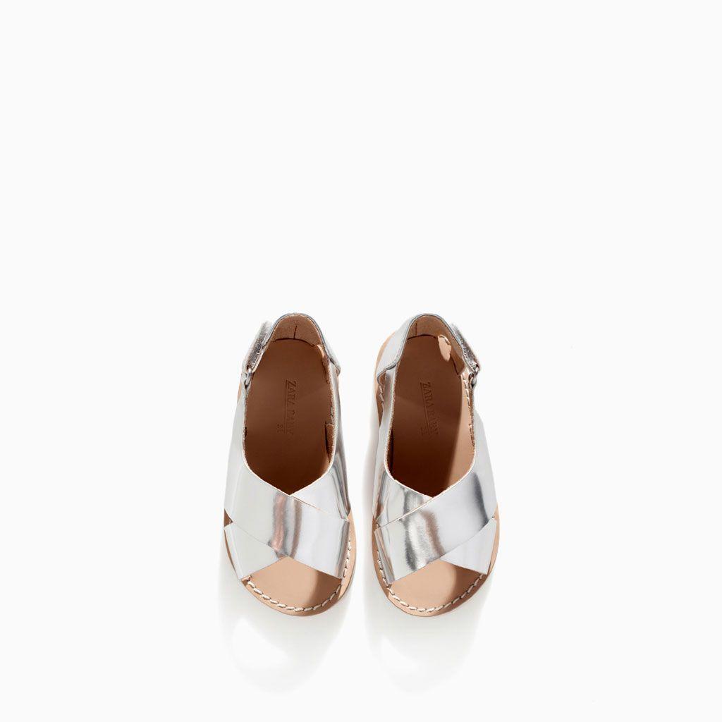 Metalliserad Sandal Från Zara Storlek 20 Zapatos Para Niñas Zapatos De Nena Calzado Niños