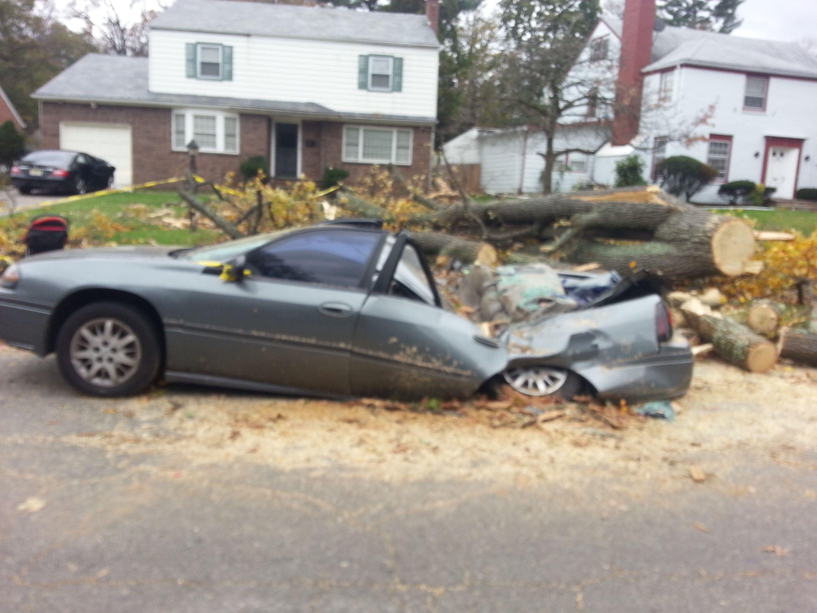 Sandy Damages were Intense. Hurricane sandy, Car ins, Sandy