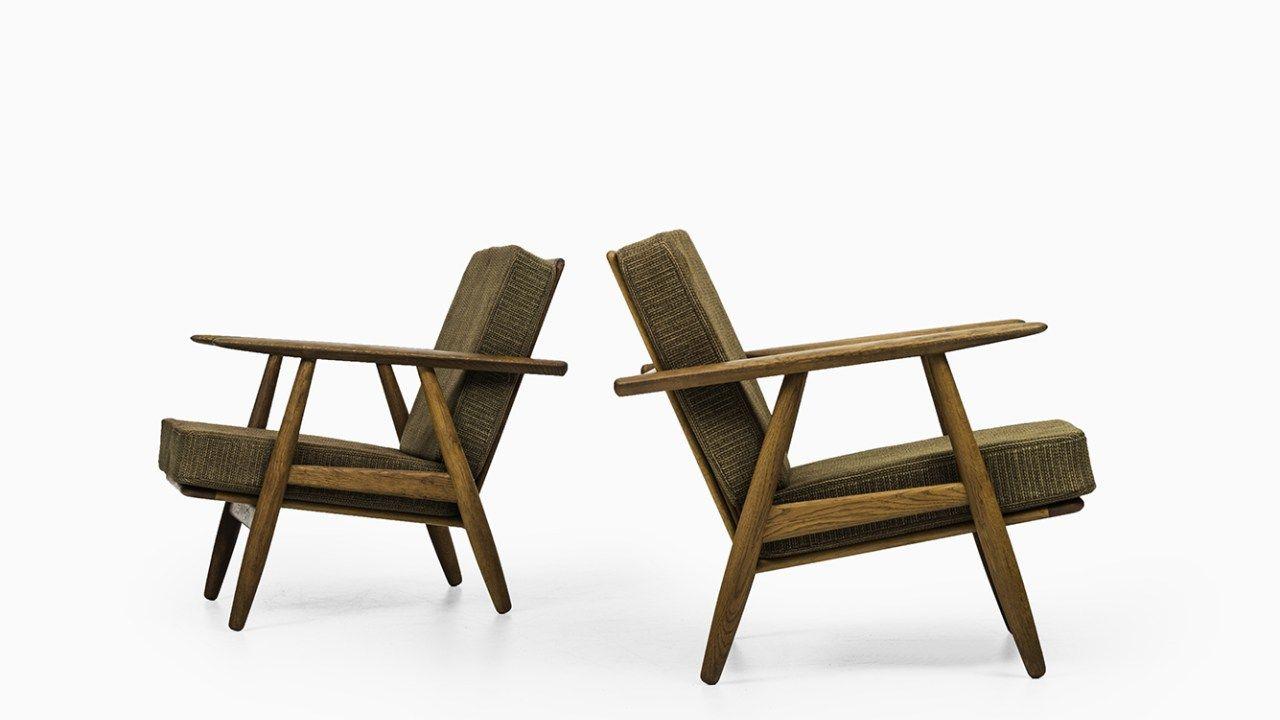 Hans Wegner cigar easy chairs by Getama at Studio Schalling