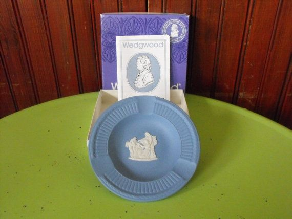 Vintage Wedgwood Jasper Pale Blue Fluted Ashtray by peacenluv72