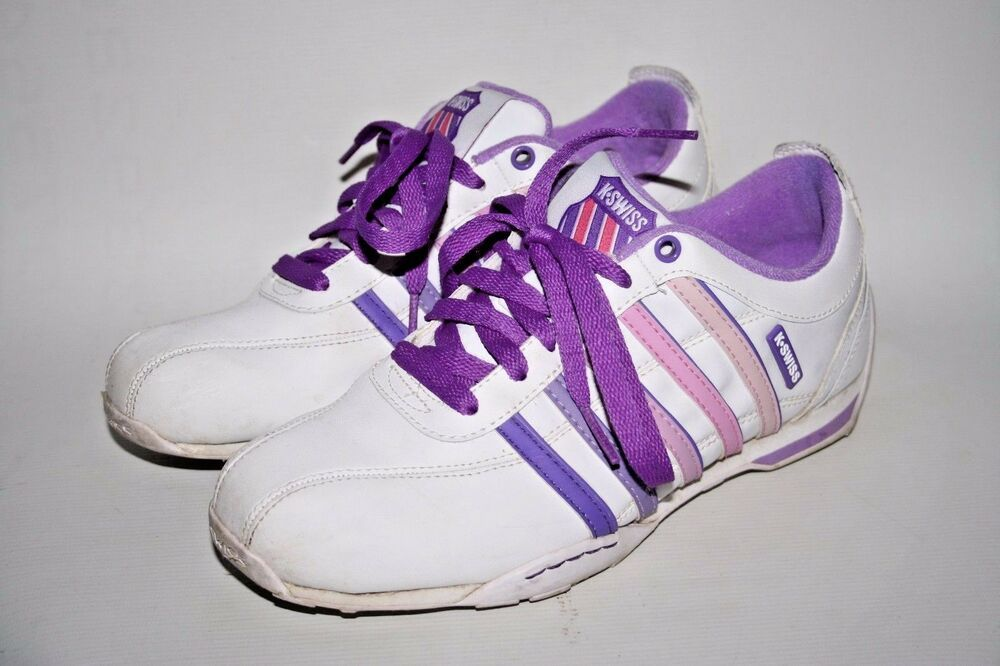 K Swiss Ladies Trainers Casual Retro Gym Purple Fitness Shoes New Sizes 4 /& 5