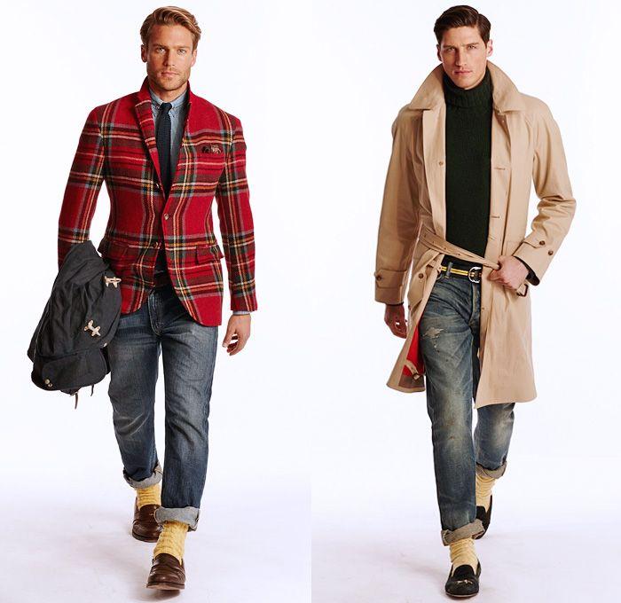 b1e717c08d Ralph Lauren 2014 Fall Winter Mens Lookbook Presentation - Autumn Collection  Looks - Purple Label Polo - Denim Jeans Outerwear Coat Leather Outdoorsman  Knit ...