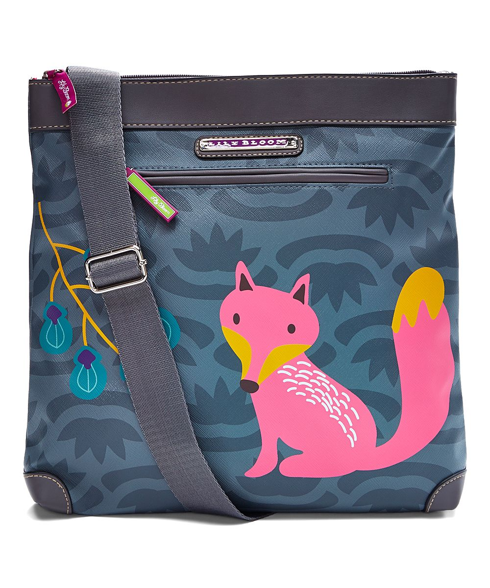 Lily Bloom Gray Fox Critter Mid Crossbody Bag | zulily