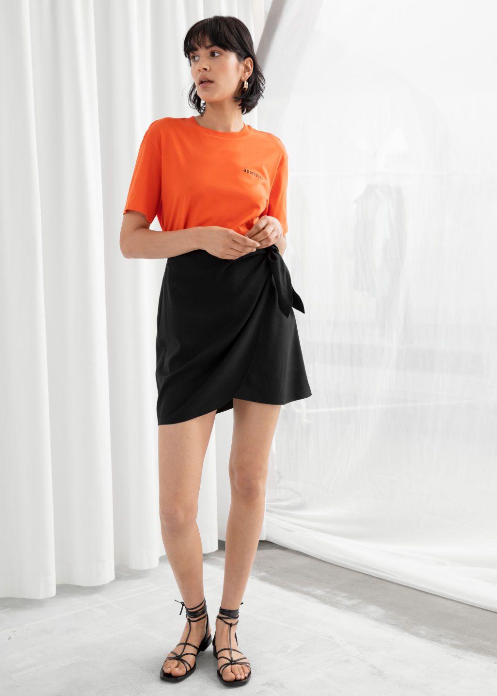 1e6e997973842e Lyocell Blend Wrap Mini Skirt in 2019 | 255555 | Mini skirts, Skirts ...