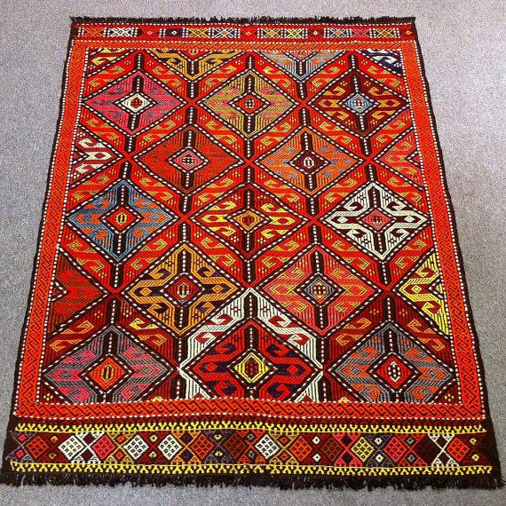 Vintage turkish kilim rug 52 x41 4 132x105cm shipping for Decor international handwoven rugs
