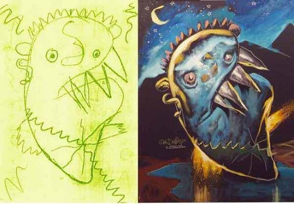 dibujos de monstruos por artistas - Buscar con Google