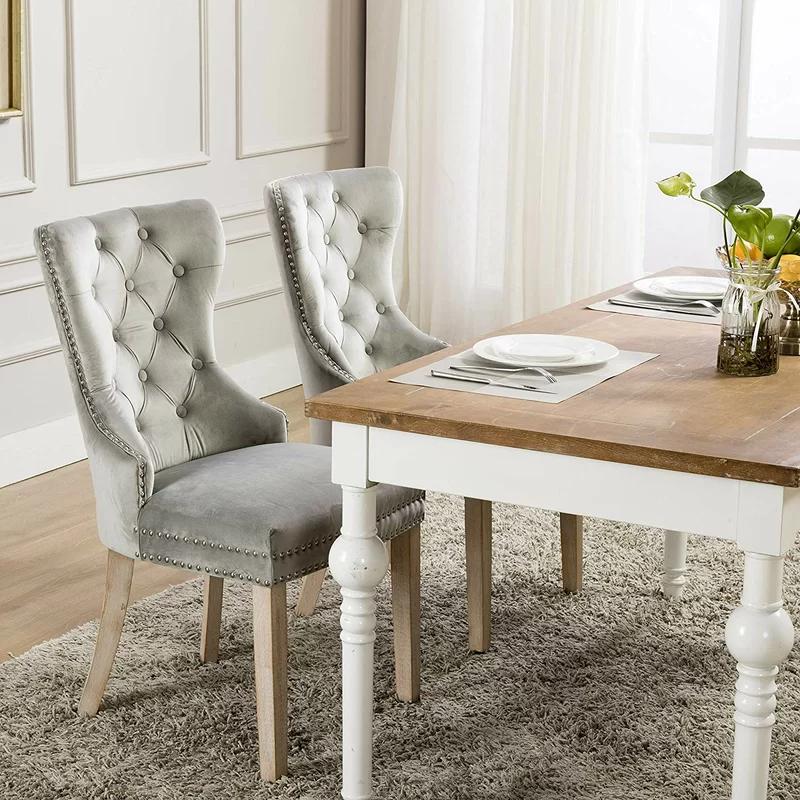 Rosdorf Park Wallick Tufted Velvet Upholstered Dining Chair & Reviews | Wayfair