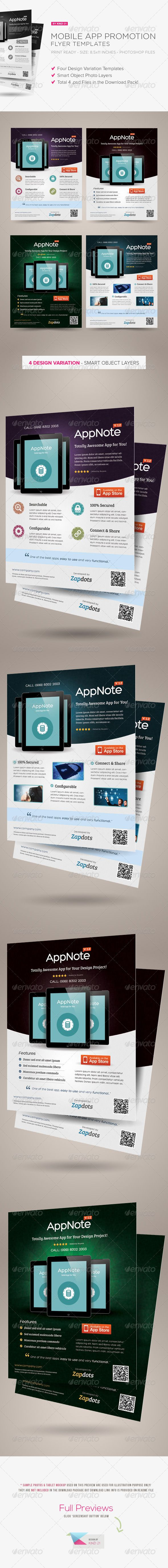 mobile app promotion flyers graphicriver the best seller mobile app