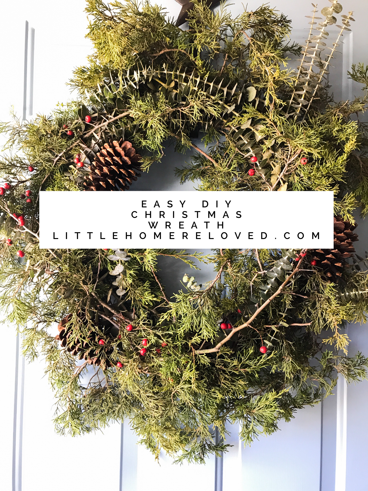 Love The Look Of Those Natural Farmhouse Christmas Wreaths I