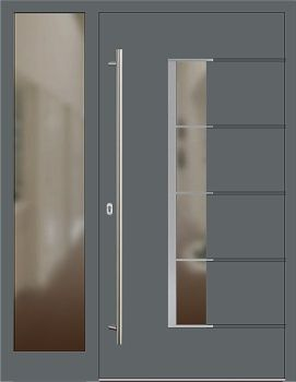 aluminium haust r modell conny1 basaltgrau mit seitenteil links doors pinterest aluminium. Black Bedroom Furniture Sets. Home Design Ideas