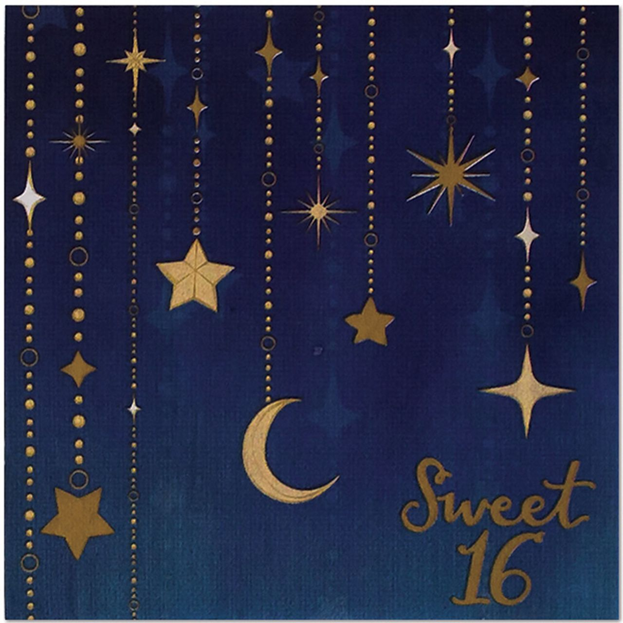 Starry Night Sweet 16 6.5in Lunch Napkins, 16ct #sweet16birthdayparty