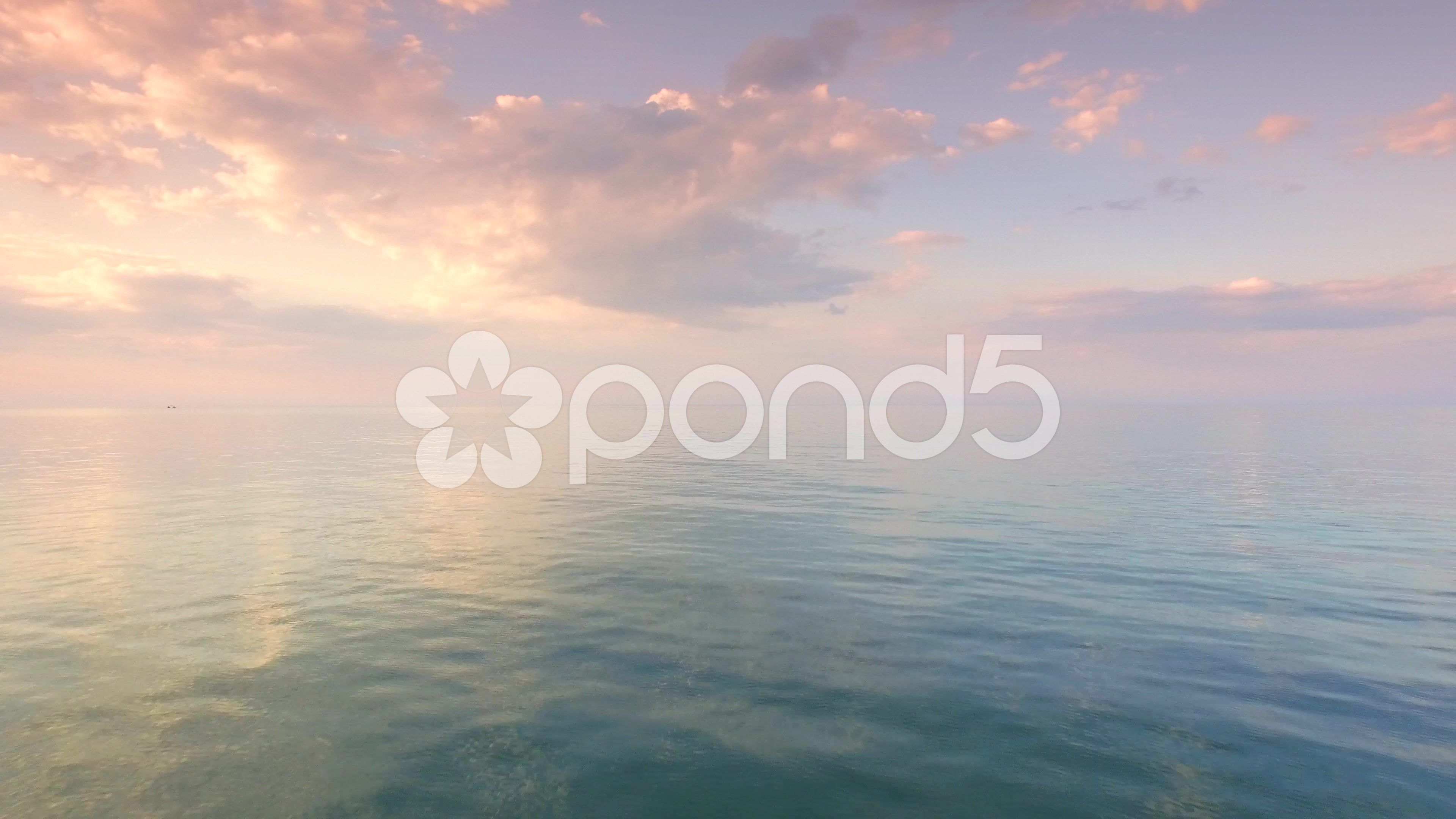Aerial Close Up Of Ocean Water Sky Infinity Beautiful Sea Landscape Sunset Stock Footage Water Sky Infinity Aerial Sky Ocean Aerial