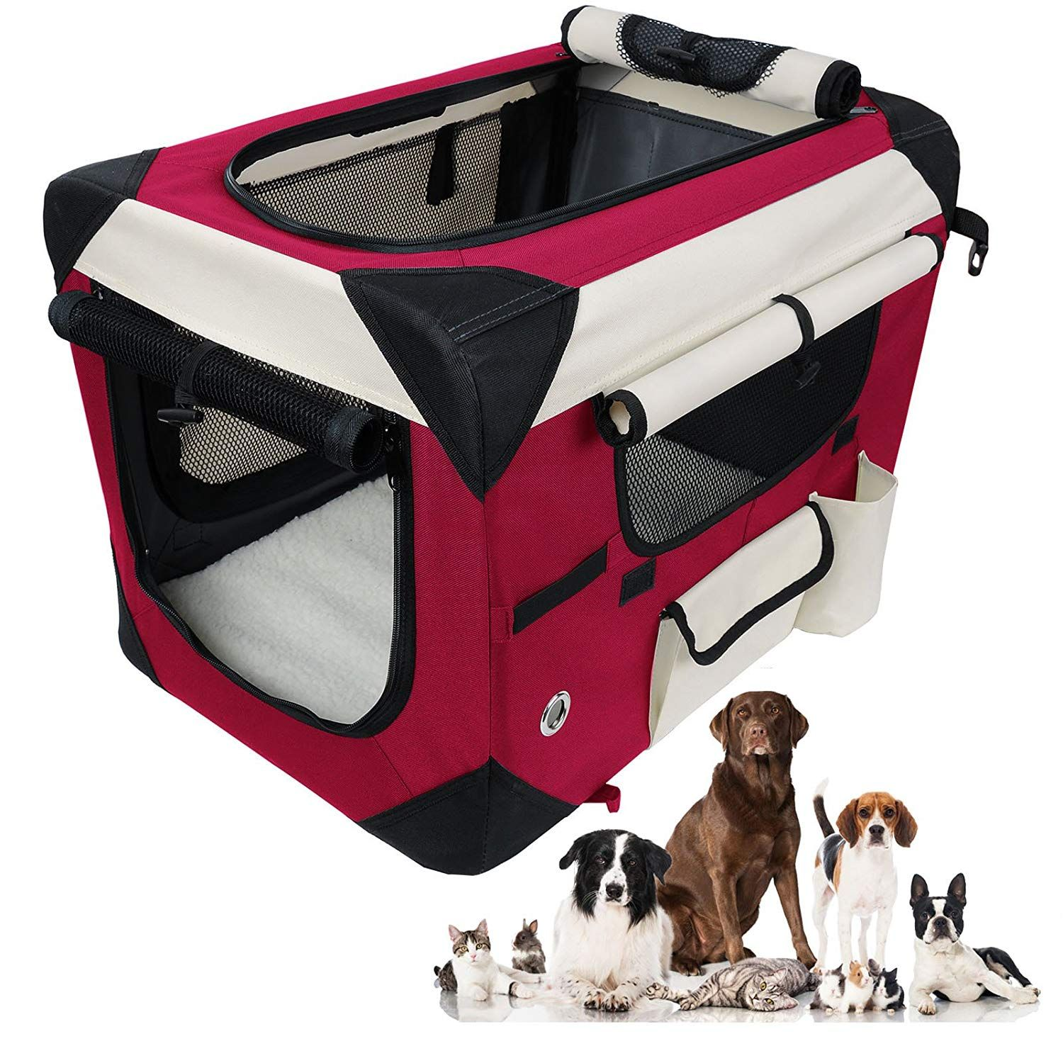 Woltu Folding Pet Carrier Soft Dog Crate Pet Home For Indoor Outdoor Use Multiple Sizes And Colors Available Chec Pet Carriers Soft Dog Crates Dog Carrier