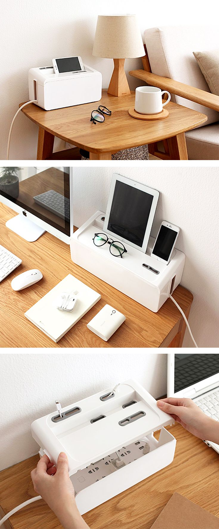 Minimalist Cable Management Box Living Accessories Style