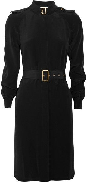 DIANE VON FURSTENBERG Jafar Silk Trenchstyle Dress