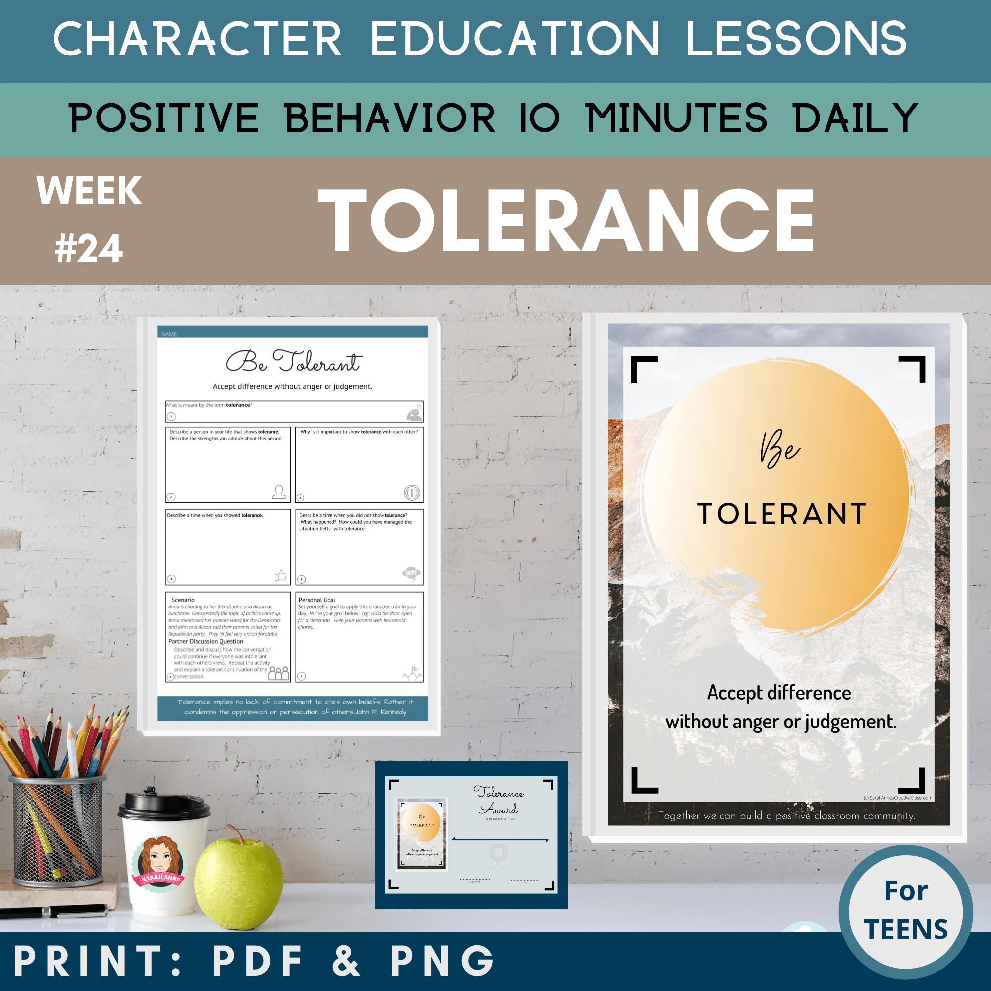 Tolerance Positive Behavior Management