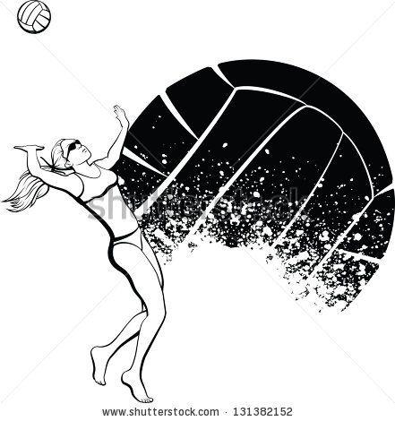 Volleyball | Scoliosis Art | Pinterest | Voley, Voley playa y Voleibol