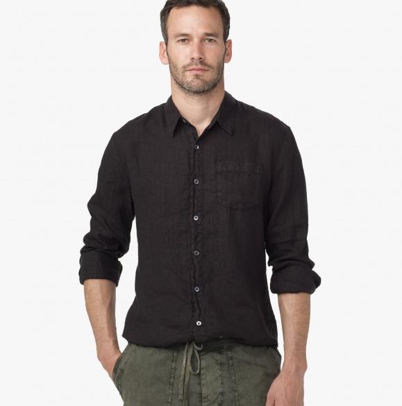Black Linen Shirt for Men | For Men Wearing Linen | Pinterest ...