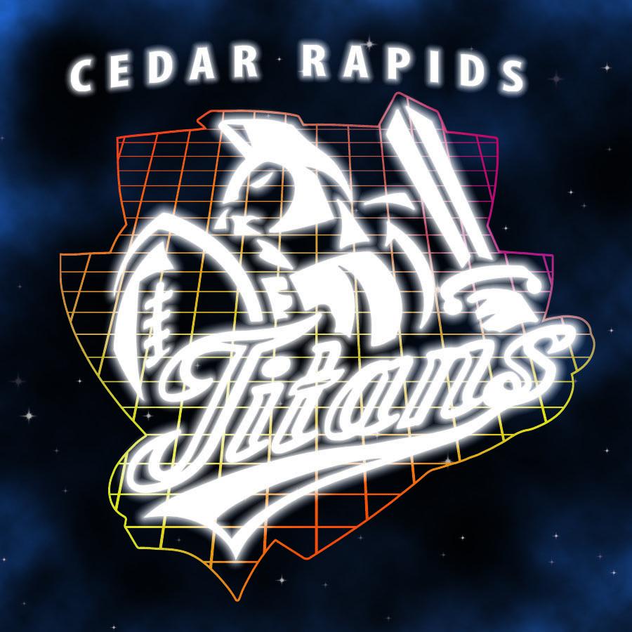 80s Night Logo Cedar Rapids Titans 2013 Cedar rapids