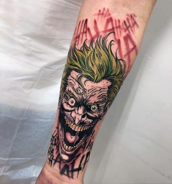 20 Twisted Dc S Joker Tattoos Joker Tattoo 11