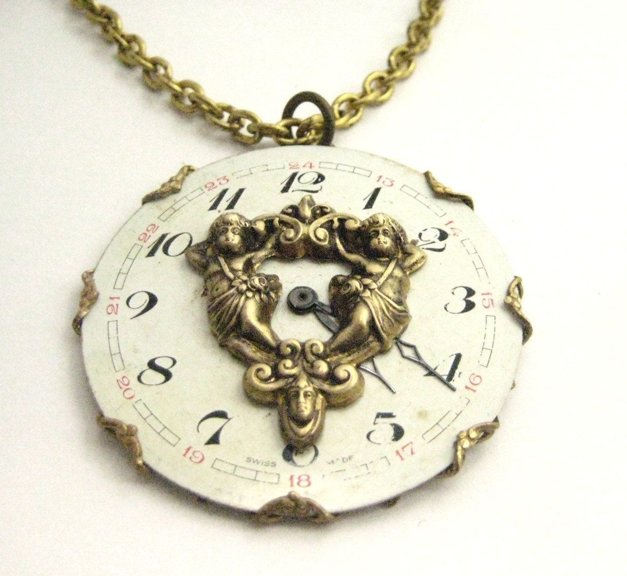 Angels ... Steampunk Angel Antique Watch Dial One of a Kind Creation by JewelsByNature on Etsy