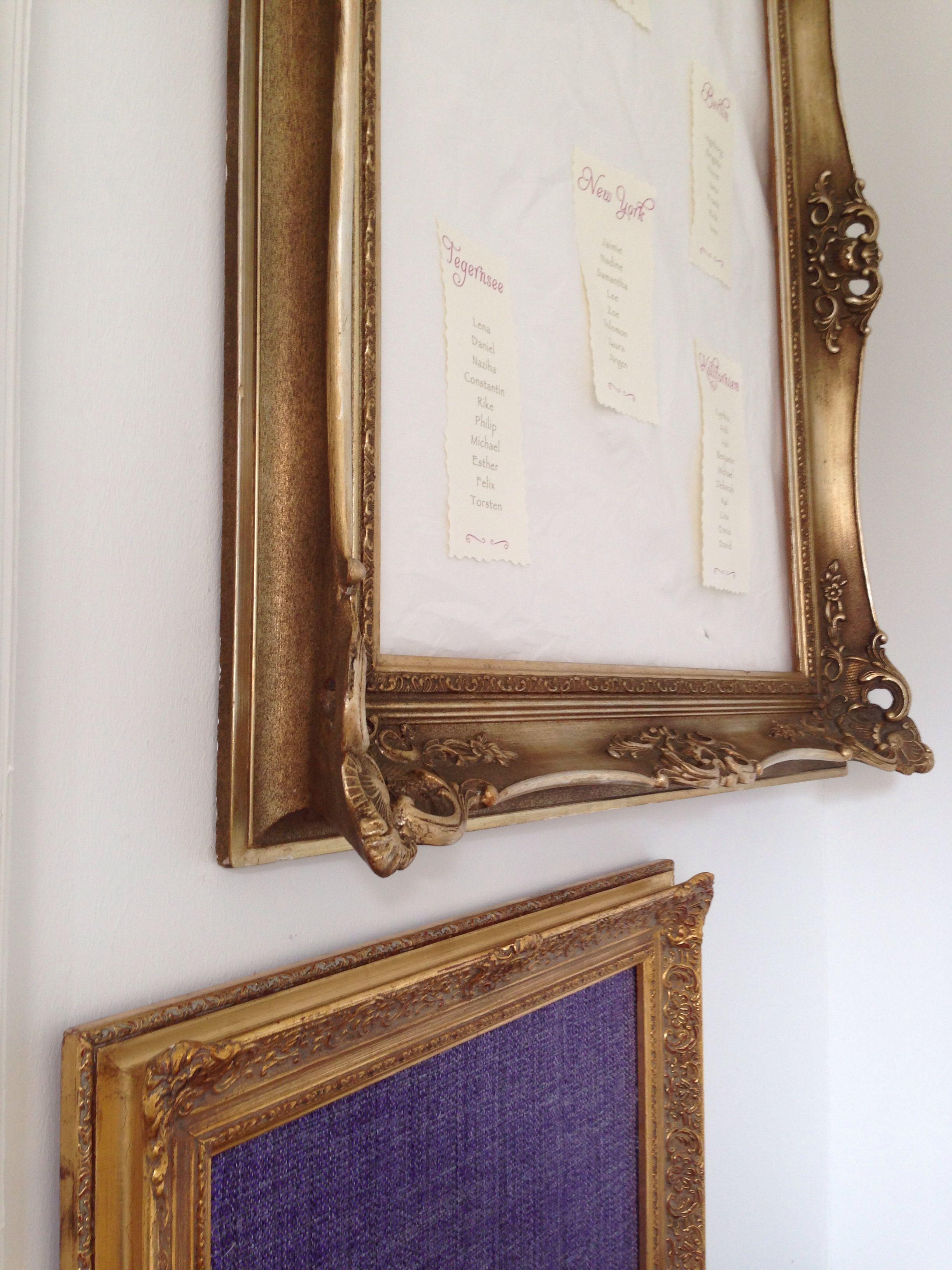 Goldene Bilderrahmen in verschiedenen Größen ausleihen. | Hochzeiten ...