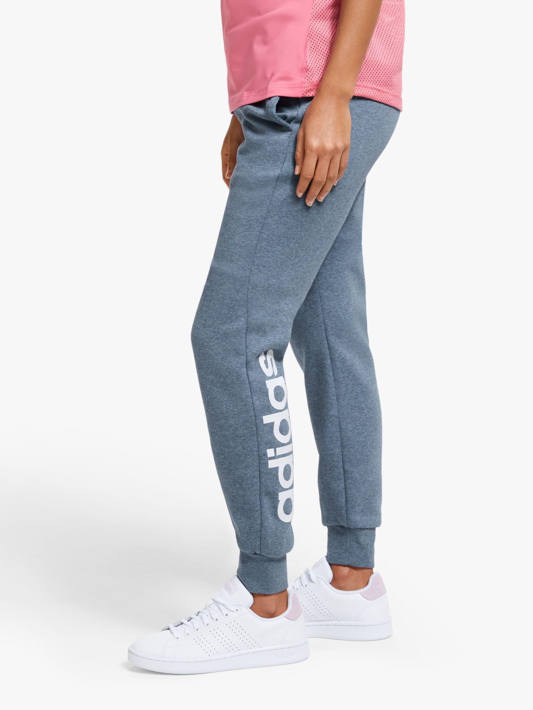 adidas Essentials Linear 34 Pants Women medium grey