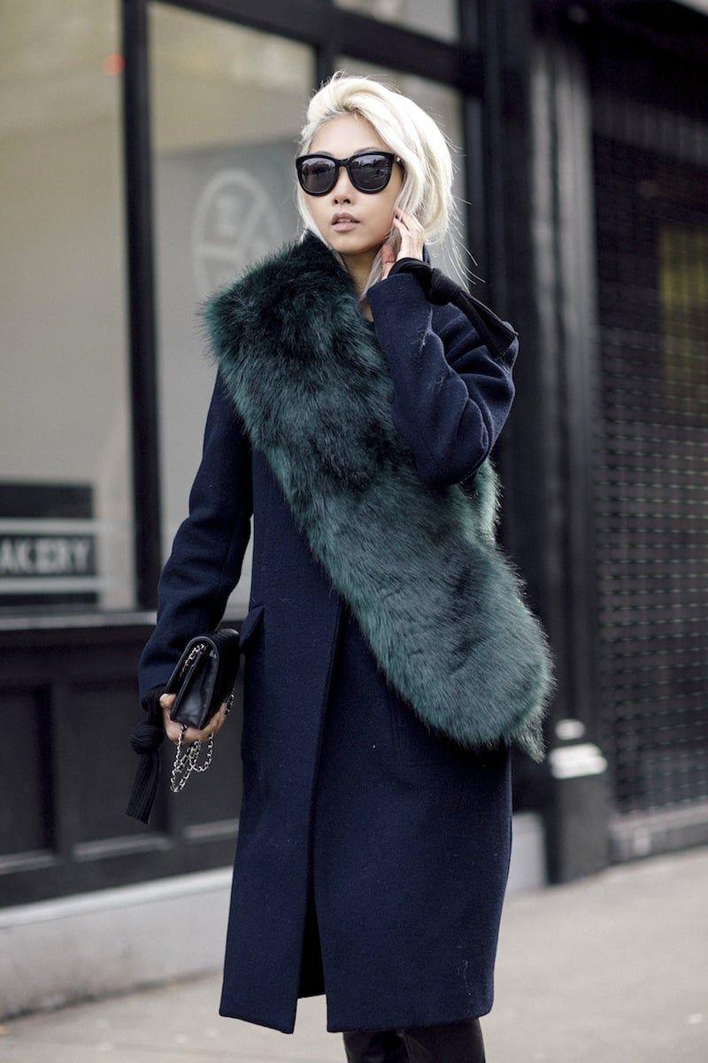 65f7599adae133 An Incredibly Chic Way To Wear A Fur Scarf — Bloglovin —the Edit