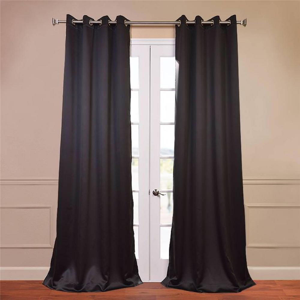 Exclusive fabrics furnishings semiopaque jet black