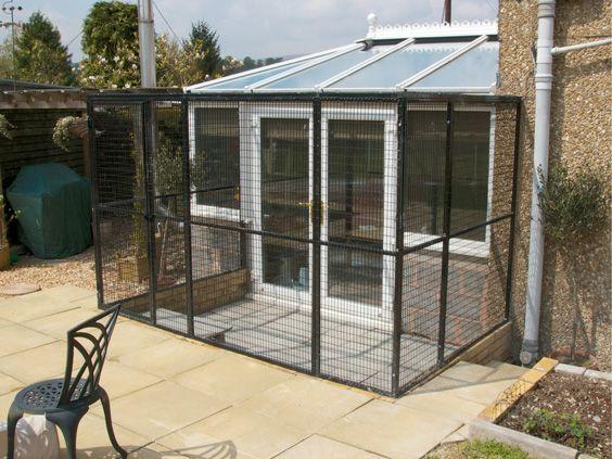 Cat Runs Weld Mesh Animal Cages Cat Spaces In Home Pet