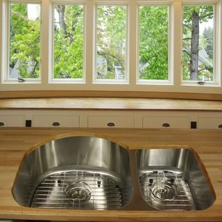 Highpoint Collection Stainless Steel 31-inch Undermount 70/30 2-bowl Kitchen Sink - Overstock™ Shopping - Great Deals on HIGHPOINT COLLECTION Kitchen Sinks