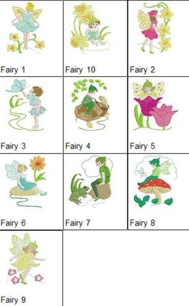Fairies Set 1 Machine Embroidery Designs
