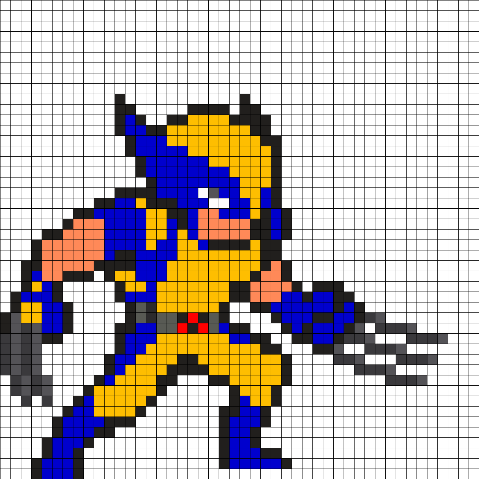 Wolverine X-Men Perler Bead Pattern