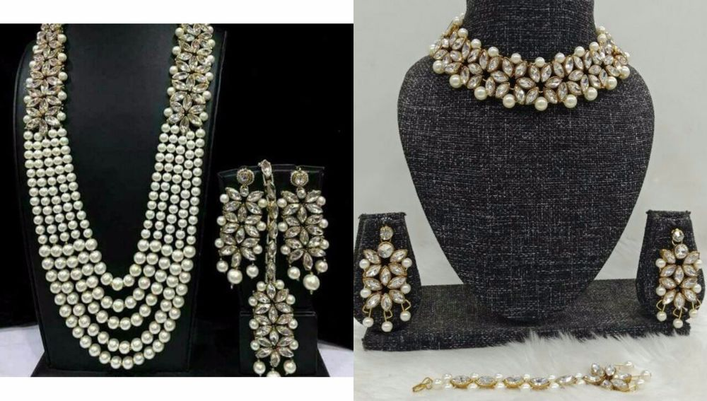 Jewelry & Watches Indian Ethnic Bollywood Designer Long Kundan Cz Bridal Pearl Necklace 4pc Set Hair & Head Jewelry