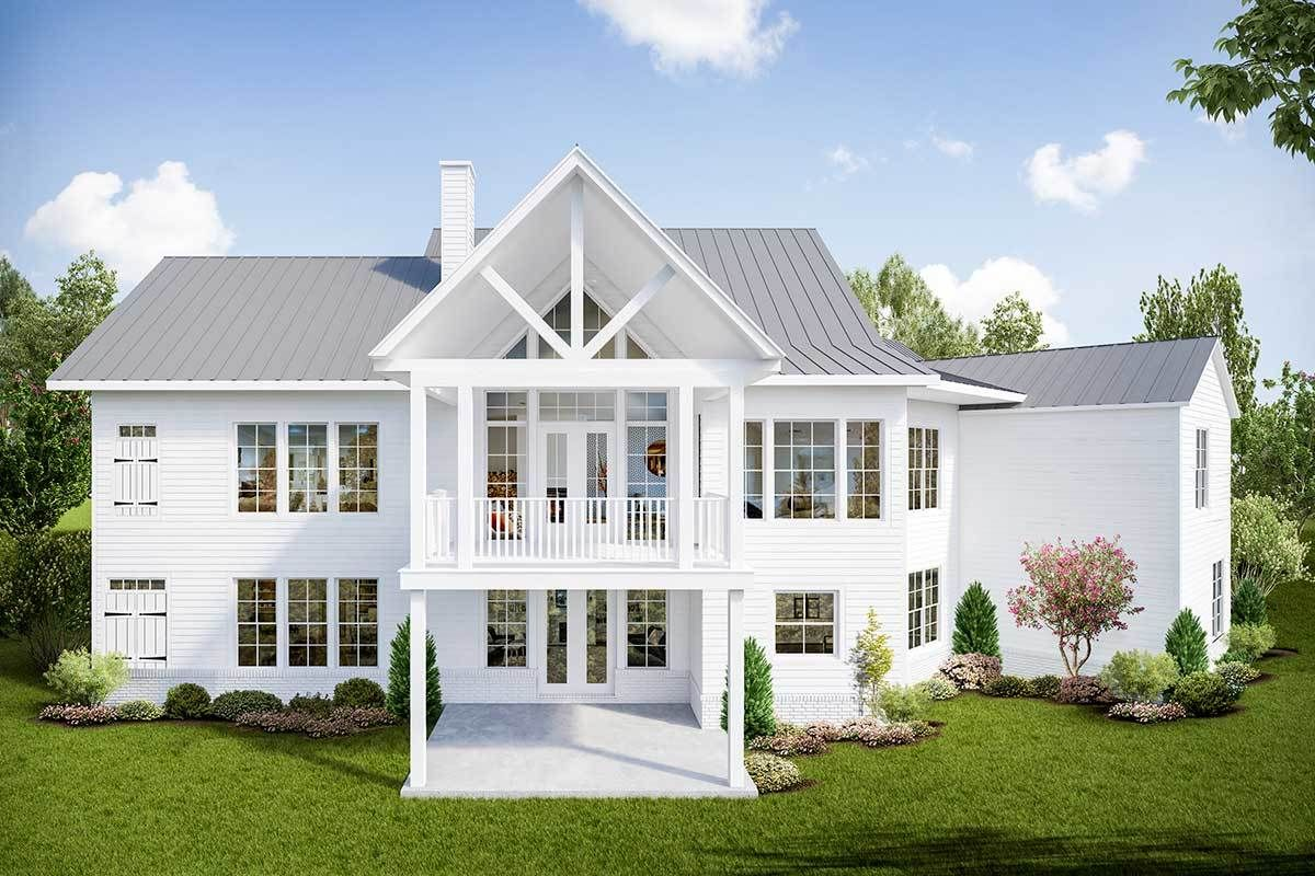 Open Concept Modern Farmhouse with Angled Garage