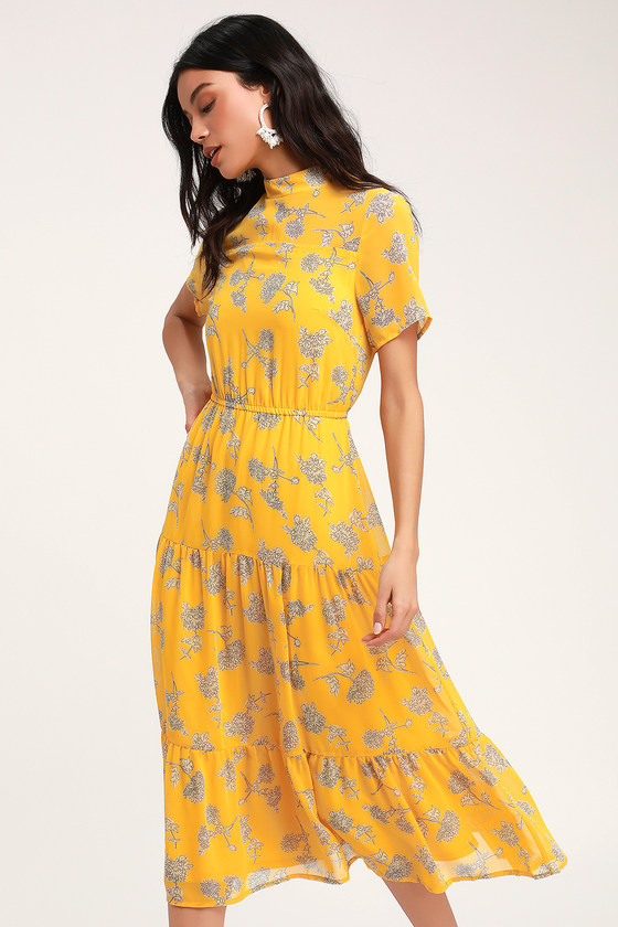 16++ Yellow floral dress ideas in 2021