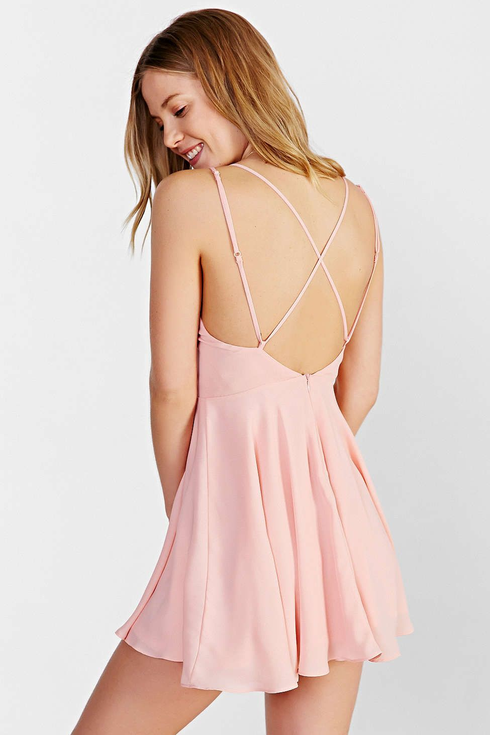 c943090e5318 Sparkle & Fade Strappy Chiffon Skater Dress | Fashion?!? | Dresses ...