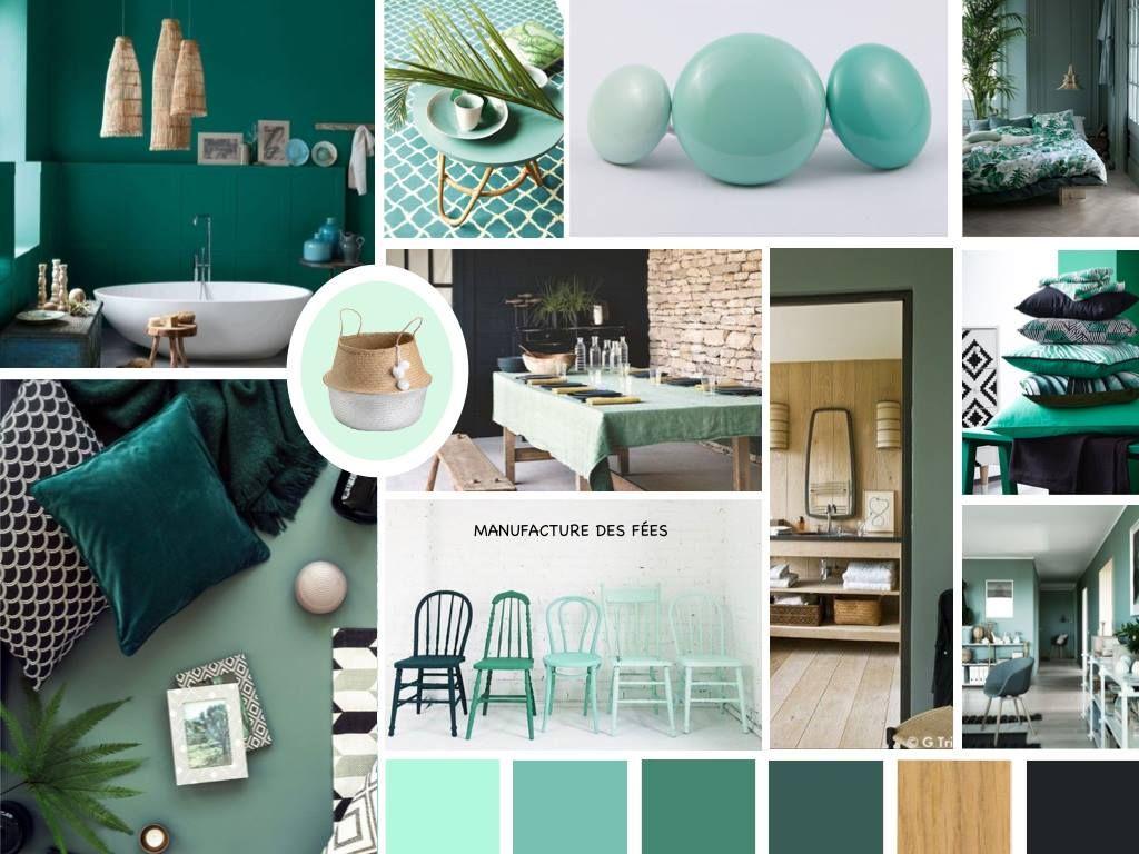 planche d 39 ambiance en d clinaison de vert par manufacture des f es planche d 39 ambiance. Black Bedroom Furniture Sets. Home Design Ideas
