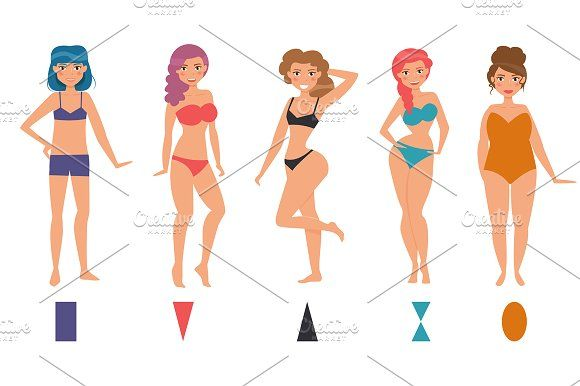 a447c317f2063 Types of female figures by Anna Violet on  creativemarket