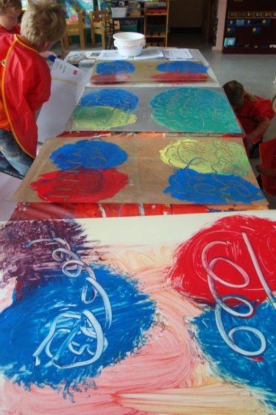 Vrije basisschool 'Sint-Denijs' Kalken | Schilderen met de handen moet kunnen ….