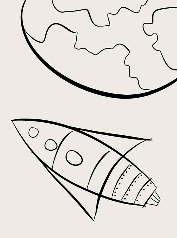 Rocket Ship Entering Earth Atmosphere Coloring Page Download Print Online Coloring Pages For Free Co Online Coloring Pages Coloring Pages Online Coloring