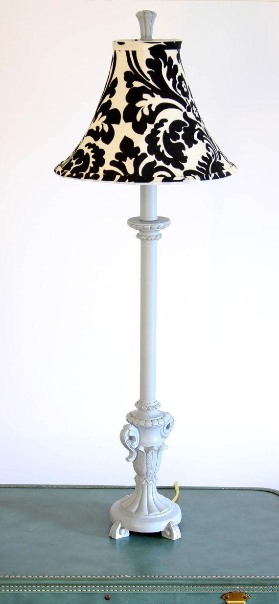 Black damask lamp shade upcycled small lampshade damasks black damask lamp shade upcycled small lampshade aloadofball Image collections