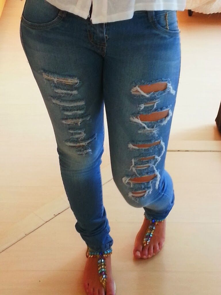 d87bbea3a Calça Jeans Rasgada Plus Size | Customizar | Jeans, Fashion e Skinny ...