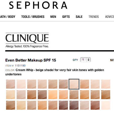 clinique foundation chart: Clinique foundations for yellow based skin tones mac foundation