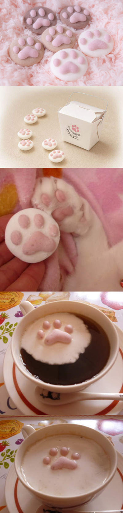 These are marshmallows!!  Too CUTE!