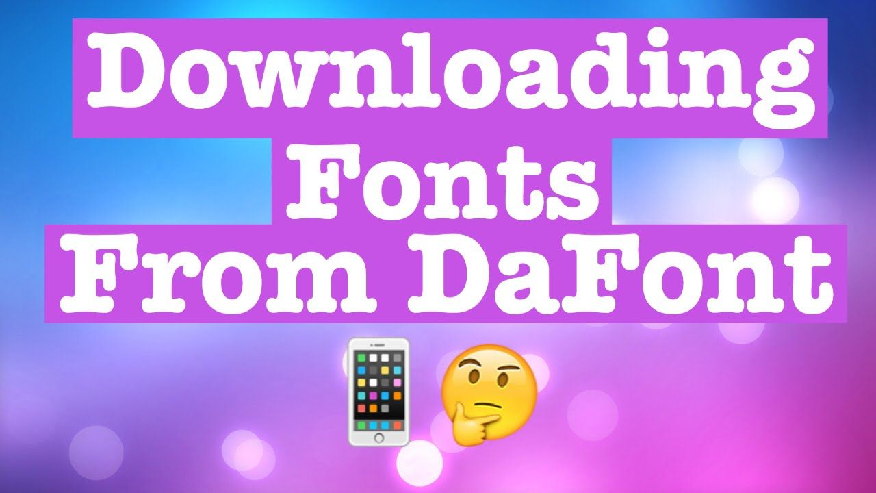 Download How To: Download Fonts from DaFont.com from your Phone ...