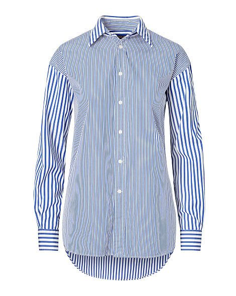 meet a1661 48605 Striped Cotton Boyfriend Shirt - Polo Ralph Lauren Sale ...