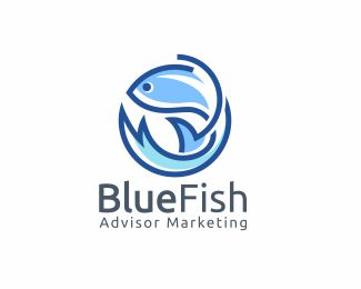 Blue Fish Fish Design Logo Fish Logo Branding Design Logo