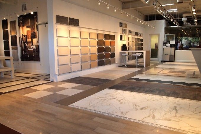 Get a sneak peek inside horizon italian tile s showroom for Showroom flooring ideas