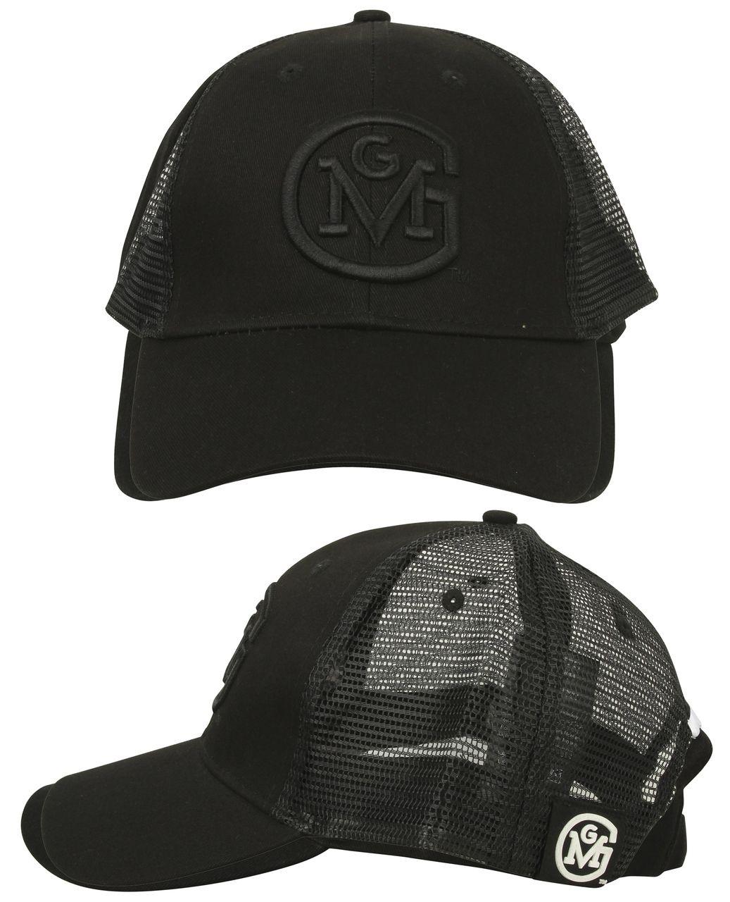 Black on Black OG Logo Gas Monkey Garage Trucker Hat Gas Monkey Garage OG  logo Trucker c75dea562e2